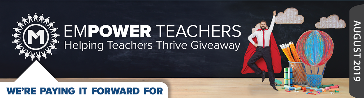 Empower Teachers - Helping Teachers Thrive Giveaway.  Teachers can get up to $100 of classroom supplies reimbursed from August 5th - 31st.  Find out how at membersfirstfl.org, call 850-434-2211, or stop by one of our branch locations.