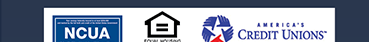 NCUA, Equal Housing Lender, America's Credit Unions logos