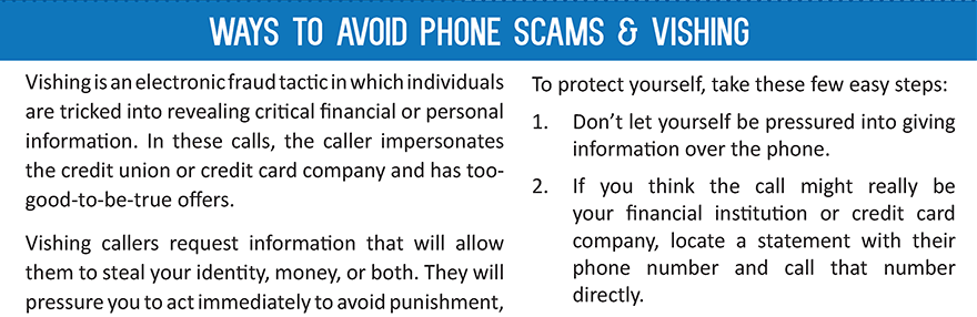 Protect yourself from phone scams & vishing.  Find out how at membersfirstfl.org/blog, call 850-434-2211, or stop by one of our branch locations.