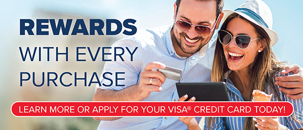 Rewards With Every Purchase On Your Members First Visa Credit Card